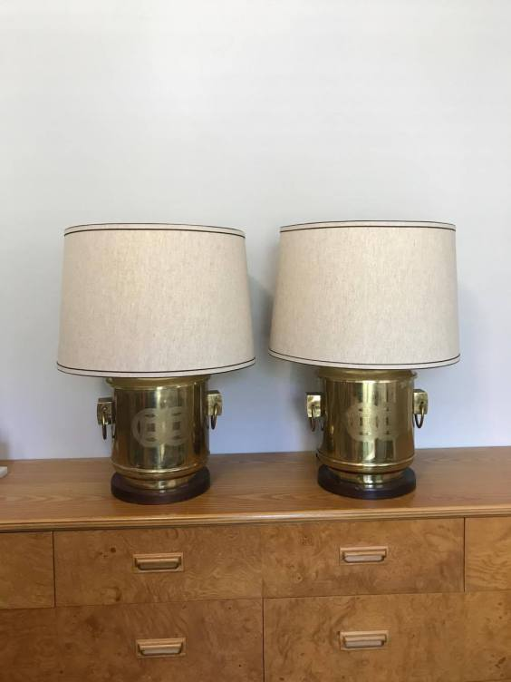 Frederick Cooper thrift store lamps