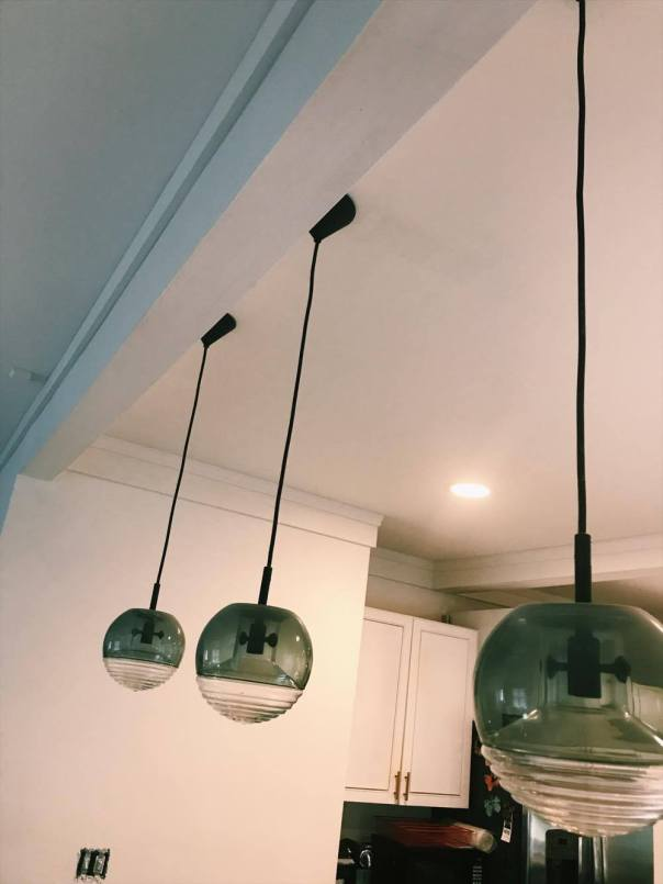Tom Dixon pendnat lights kitchen remodel