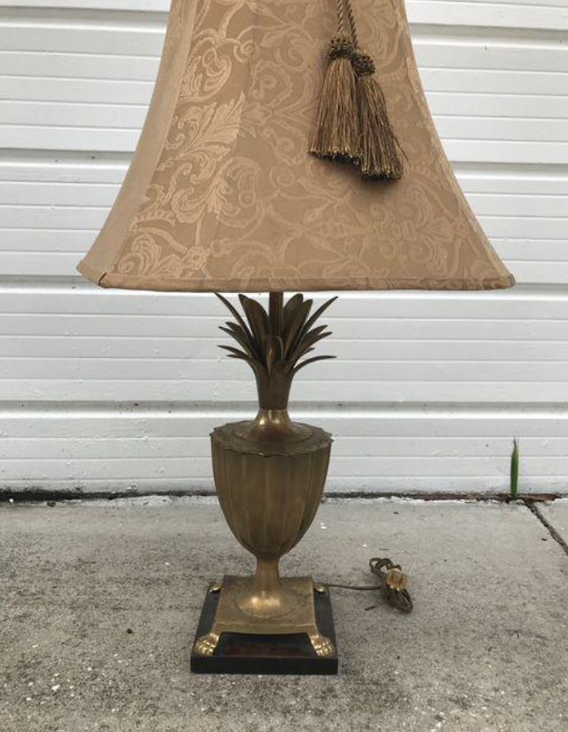 vintage pineapple lamp thrift store frederick cooper
